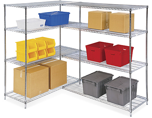 Chrome Wire Shelving, Chrome Wire Storage in Stock - ULINE