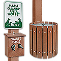 Uline Dog Waste System