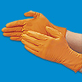 Uline Orange Nitrile Gloves