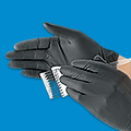 Uline Black Latex Gloves