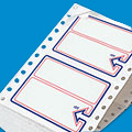 Preprinted Border Pinfeed Labels