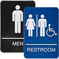 Plastic Restroom Signs