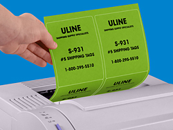 Fluorescent laser labels in stock uline for Uline templates