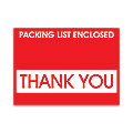 Thank You Packing List Envelopes