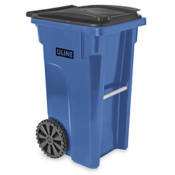 Uline Trash Can With Wheels In Stock Uline
