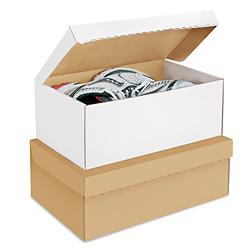 Uline White Shoe Box