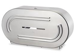 Stainless Steel Jumbo Bath Tissue Dispenser Double Roll