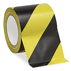 Uline Industrial Vinyl Safety Tape 4 Quot X 36 Yds Yellow