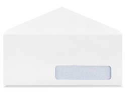 10 Gummed White Business Envelopes With Right Window 4