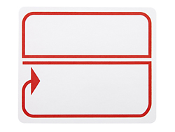 Preprinted border laser labels red white s 3198b uline for Uline templates