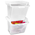 Clear Stackable Bins
